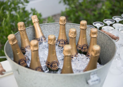 Fine California Champagne on ice for a celebratory toast at a Churchill Events wedding.